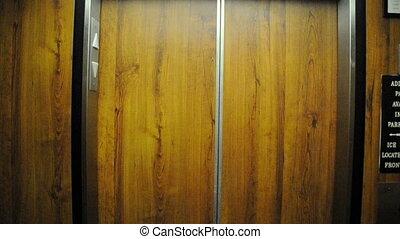 deur, lift, opening
