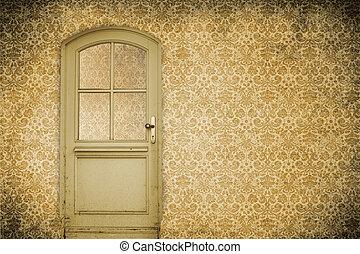 deur, muur, oud