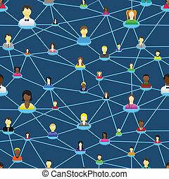 diagram, mensen, sociaal, zakelijk