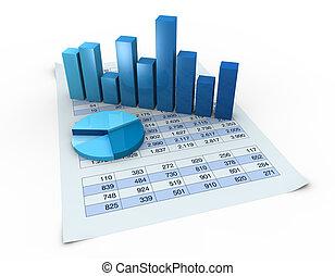 diagrammen, spreadsheets