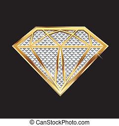 diamant, bling