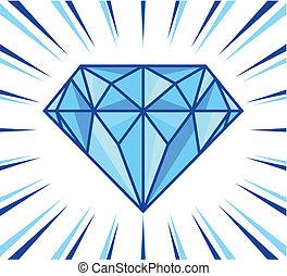 diamant, glanzen