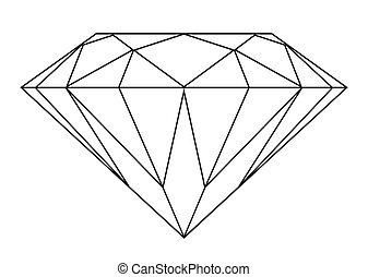 diamant, schets