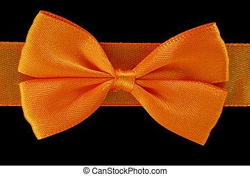 dichtbegroeid boven, achtergrond, sinaasappel, vrijstaand, boog, black