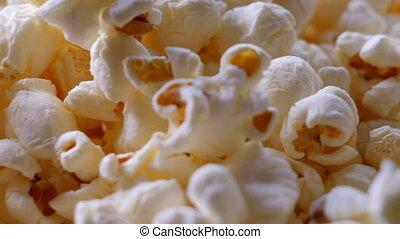 dichtbegroeid boven, zoet, popcorn, boter