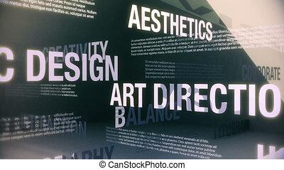 diensten, grafisch ontwerp, verwant