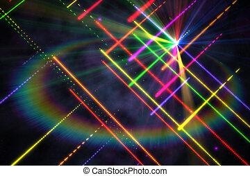 digitaal, achtergrond, disco, genereren, laser