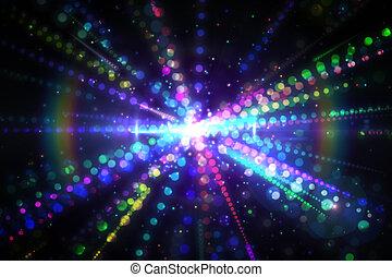 digitaal, laser, achtergrond, genereren