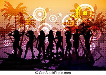 digitaal, nightclub, achtergrond, genereren