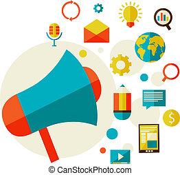 digitale , concept, marketing
