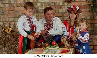 diner, gezin, oekraïener