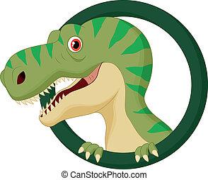 dinosaurus, karakter, spotprent