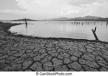 disaster., klimaat, natuurlijke , dor