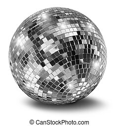 disco bal, zilver, spiegel