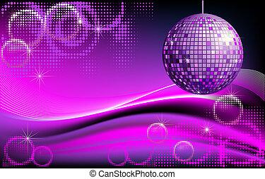 disco-ball, achtergrond