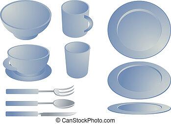 dishware, set