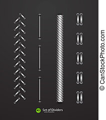 dividers, vector