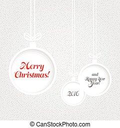 document ballen, textured, kerstmis