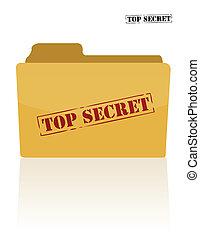 document, geheim, map
