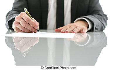 document, ondertekening, advocaat