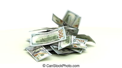 dollars, het vallen, ons