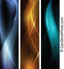 donker, abstract, set, spandoek, golf