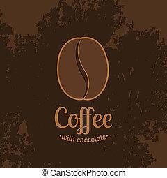 donker, koffie boon, achtergrond, textured