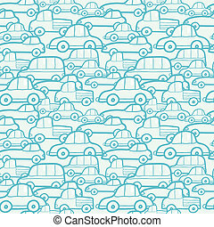 doodle, auto's, seamless, achtergrondmodel