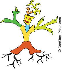 doodle, boompje, man