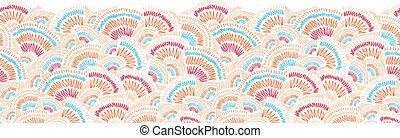doodle, textured, seamless, model, geometrische rand, horizontaal