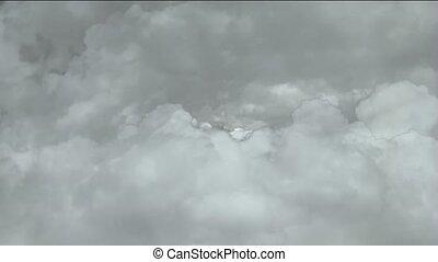 door, vasten, wolken, storm, vliegen