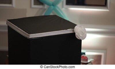 doosje, binnen, black