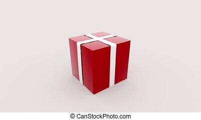 doosje, cadeau, opening