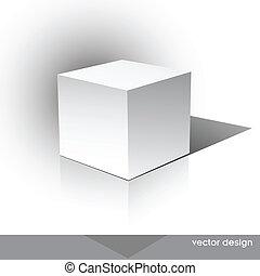 doosje, cube-shaped, software, verpakken
