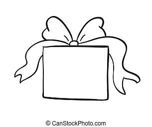 doosje, schets, cadeau