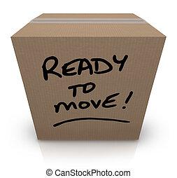 doosje, verhuizen, verhuizing, verhuizing, gereed, karton