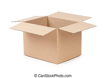 doosje, verpakken, geopend