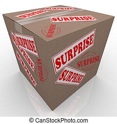 doosje, verrassing, shipped, karton, verpakken