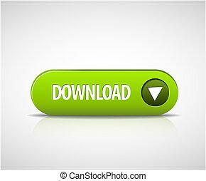 downloaden, groot, knoop, nu, groene