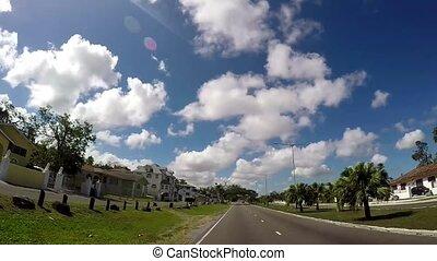 downtown, buurt, pov, baai, bahamas, beroemd, straat, nassau