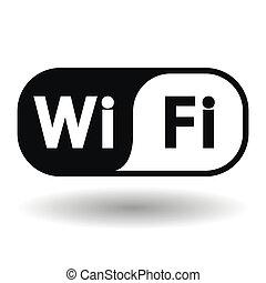 draadloos, symbool, netwerk