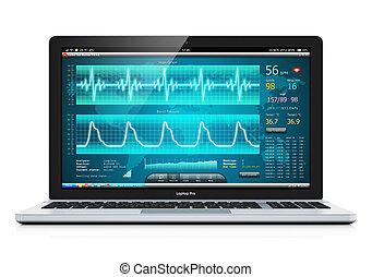 draagbare computer, software, medisch, cardiological, diagnostisch