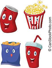 drank, popcorn, bakken, zacht, franse