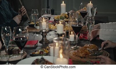 dranken, restaurant., concept, eten, mensen, -, voedingsmiddelen, feestdagen, drinkt, vrije tijd, vrienden, vrolijke
