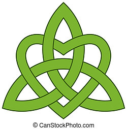 drieëenheid, (triquetra), keltisch, knoop