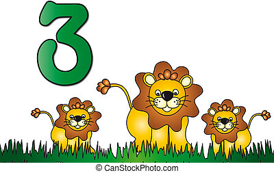 drie, getal
