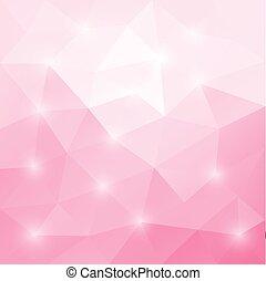 driehoekig, mozaïek, abstract, roze, licht, achtergrond