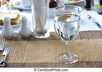 drinkend glas, water.
