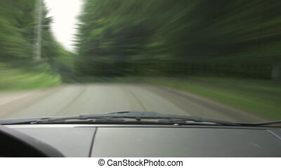 drive., timelapse, groene, pov.