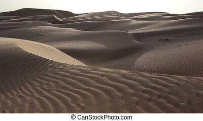 duinen, oman, zand